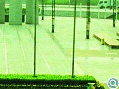 候机楼前广场,主体明确、线条刚柔并济、结构丰富
